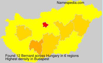 Surname Bernard in Hungary