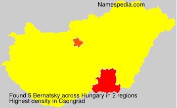 Familiennamen Bernatsky - Hungary