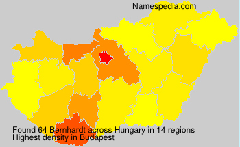 Surname Bernhardt in Hungary