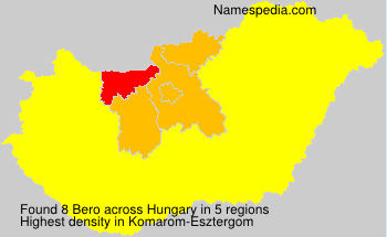 Surname Bero in Hungary
