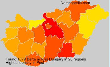 Surname Berta in Hungary