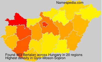 Surname Bertalan in Hungary