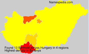 Surname Berthold in Hungary