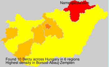 Surname Berzy in Hungary