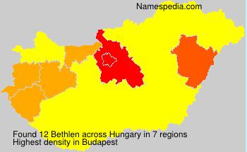 Surname Bethlen in Hungary