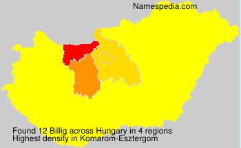 Surname Billig in Hungary