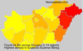 Surname Biri in Hungary