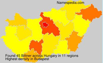 Surname Bittner in Hungary