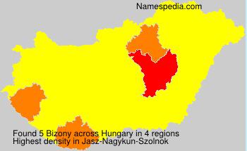 Surname Bizony in Hungary