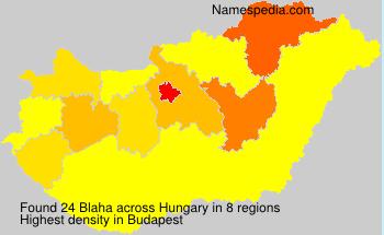 Surname Blaha in Hungary