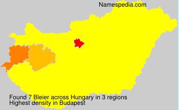 Surname Bleier in Hungary
