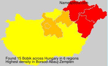 Surname Bobik in Hungary