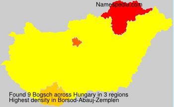 Surname Bogsch in Hungary