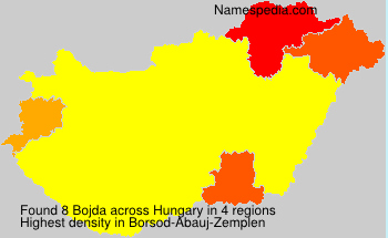 Surname Bojda in Hungary