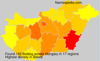 Surname Boldog in Hungary