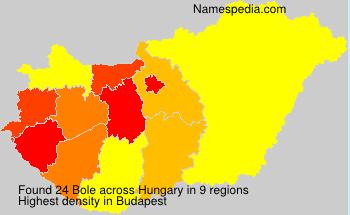 Familiennamen Bole - Hungary