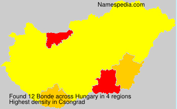 Surname Bonde in Hungary