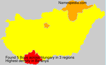 Surname Boos in Hungary