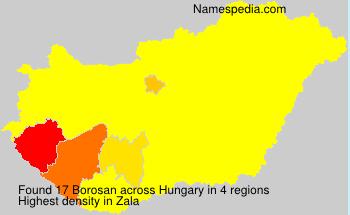 Familiennamen Borosan - Hungary