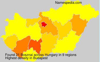 Familiennamen Bosznai - Hungary