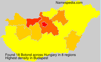 Surname Botond in Hungary