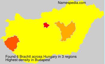 Familiennamen Brachtl - Hungary