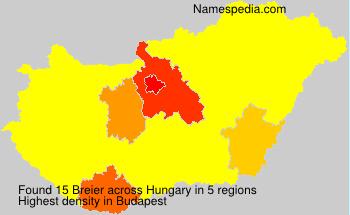 Familiennamen Breier - Hungary
