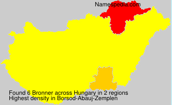 Surname Bronner in Hungary