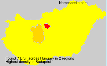 Surname Brull in Hungary