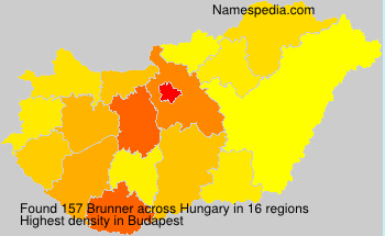 Surname Brunner in Hungary