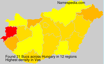 Surname Bucs in Hungary