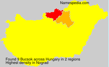 Surname Bucsok in Hungary