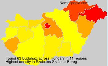Surname Budahazi in Hungary