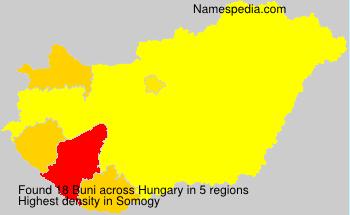 Surname Buni in Hungary