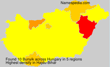 Surname Bunyik in Hungary