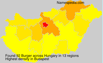 Surname Burger in Hungary