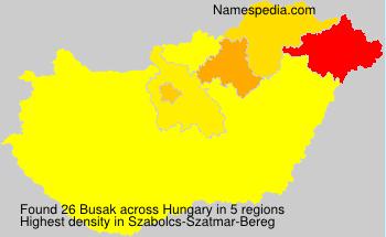Surname Busak in Hungary