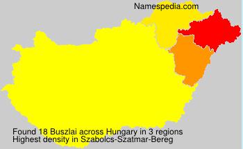 Familiennamen Buszlai - Hungary