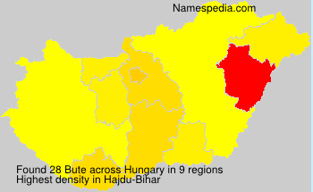 Surname Bute in Hungary