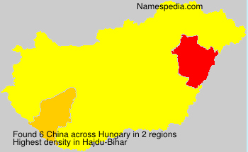 Surname China in Hungary