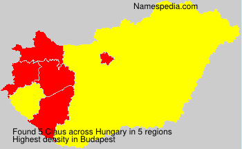 Surname Claus in Hungary