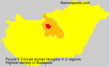 Surname Conrad in Hungary