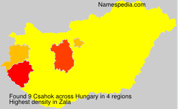 Surname Csahok in Hungary