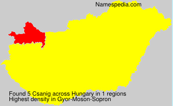 Surname Csanig in Hungary