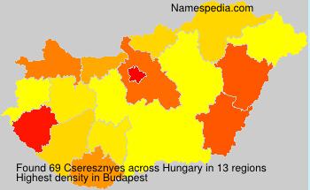 Surname Cseresznyes in Hungary
