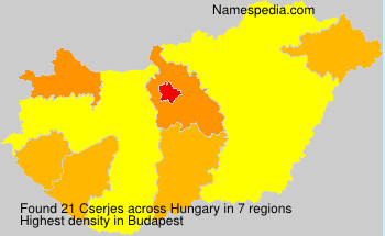Surname Cserjes in Hungary