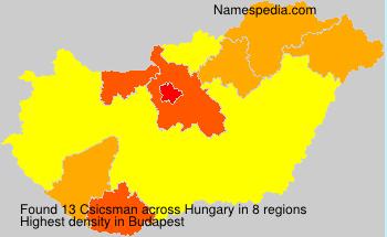 Surname Csicsman in Hungary