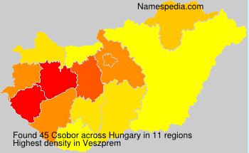 Surname Csobor in Hungary