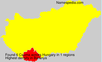 Familiennamen Csuma - Hungary