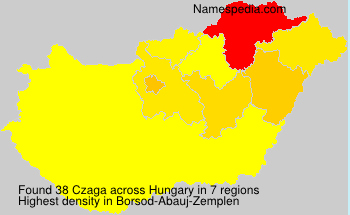 Surname Czaga in Hungary